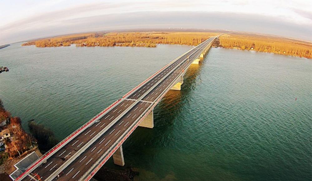 FOTO 1 Most Mihajla Pupina preko Dunava