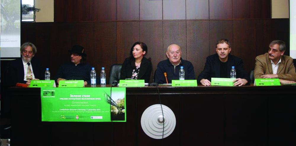 FOTO 6 Učesnici Press-konferencije na Saobraćajnom fakultetu u Beogradu
